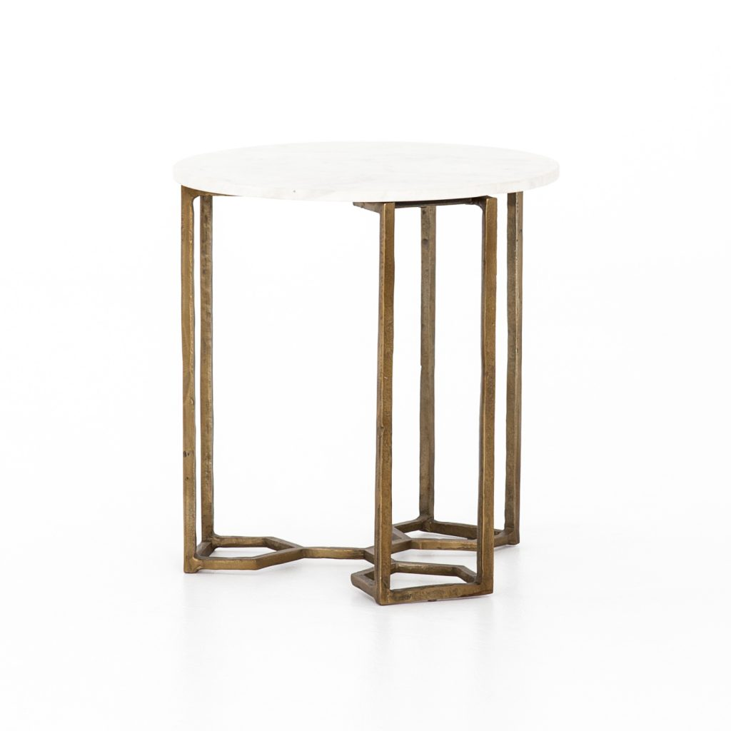 Marble & Brass end table
