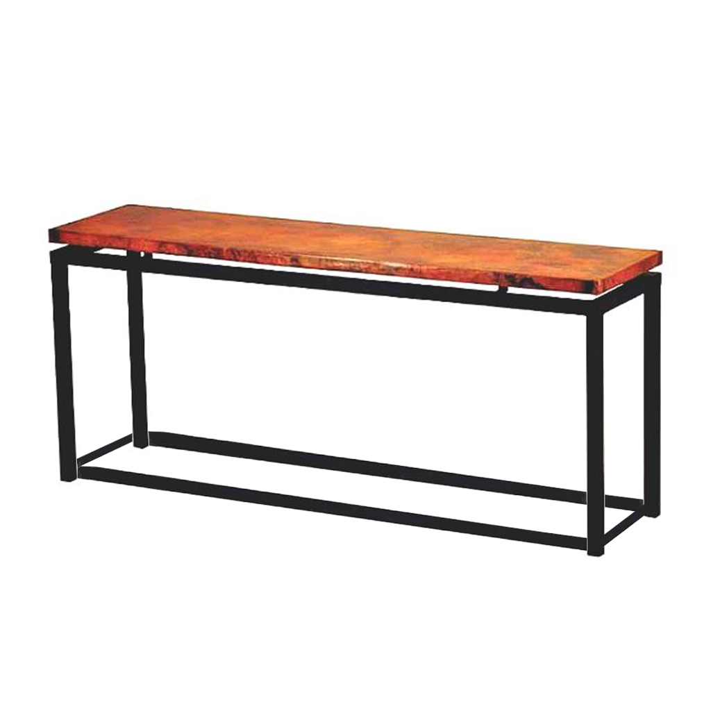 Copper top artesanal console